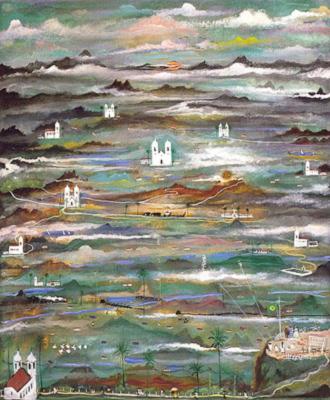 Fantasia de Minas [Paisagem imaginante], 1955 (Coleção Luís Antonio Almeida Braga e Sra.)