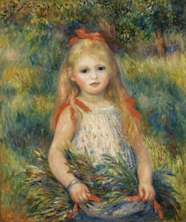 Auguste Renoir Principais Obras - Menina com as espigas flores