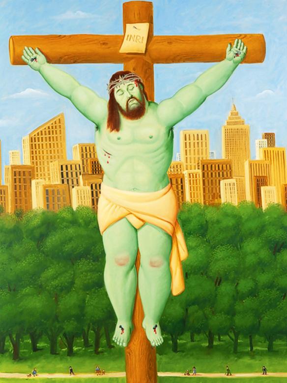 Via Sacra, de Fernando Botero - cruz