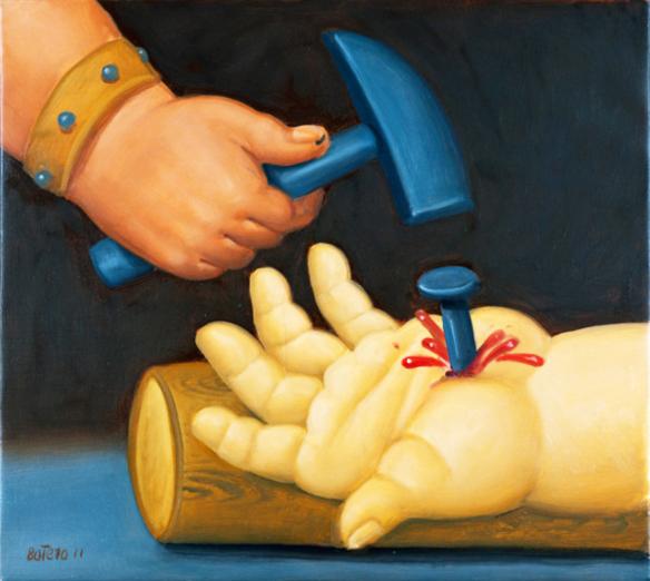 Via Sacra, de Fernando Botero - pregando