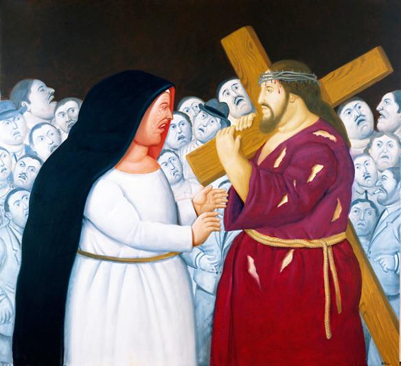 Via Sacra, de Fernando Botero - jesus e maria